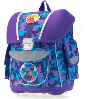 Рюкзак для девочки 1-5 класс с анатомической спинкой (фиолетовый)