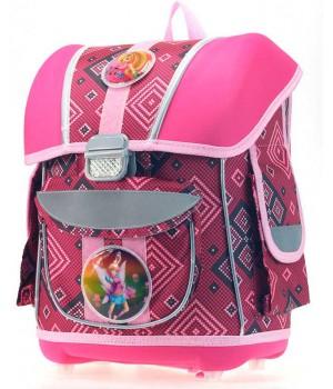 Рюкзак для девочки 1-5 класс с анатомической спинкой (розовый)