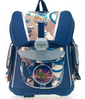 Рюкзак для мальчика 1-5 класс с анатомической спинкой (синий)